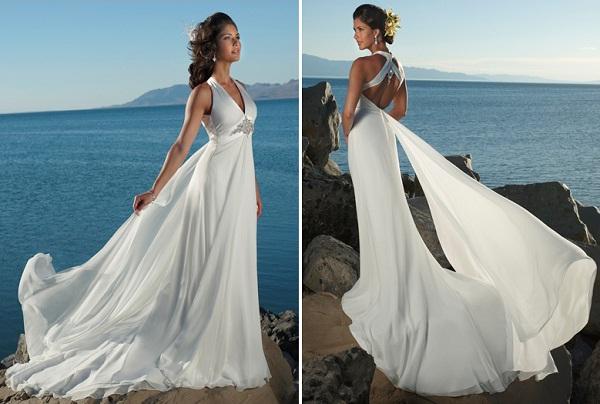 lựa chọn áo cưới cho đám cưới ở biển